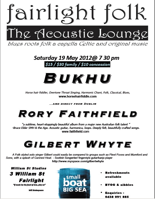 Fairlight Folk Acoustic Lounge